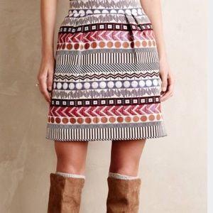 Anthropologie Nomad Morgan Carper Brocade Skirt